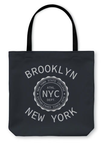 Tote Bag, New York College Of Sport Typography - Bizzy Lizzy