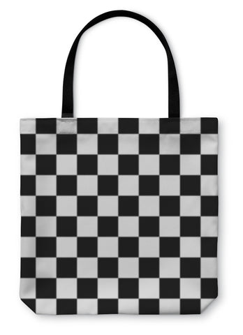 Tote Bag, Checkerboard Chess - Bizzy Lizzy