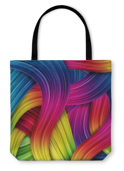 Tote Bag, Colorful Abstract - Bizzy Lizzy
