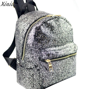 Girl's Glitter Fashion Backpack; 2 Finishes - Bizzy Lizzy