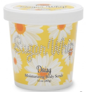 Primal Elements Sugar Whip Body Scrub, Exfoliating Cleanser and Moisturizer, Daisy - Bizzy Lizzy
