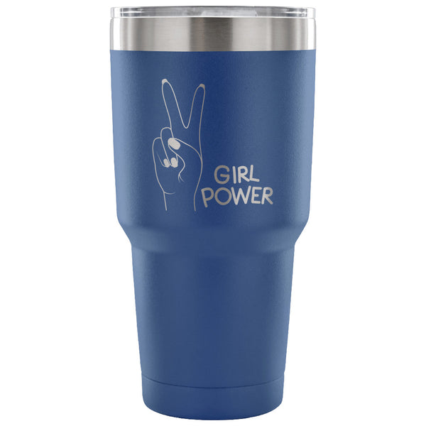 Girl Power Insulated Steel Travel Tumbler; 30 Ounces; Keeps Beverages Hot or Cold for Hours - Bizzy Lizzy
