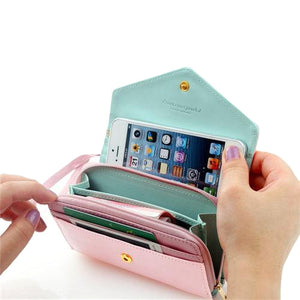 3-in-1 Stylish Smartphone Wallet Purse & Wristlet - Bizzy Lizzy