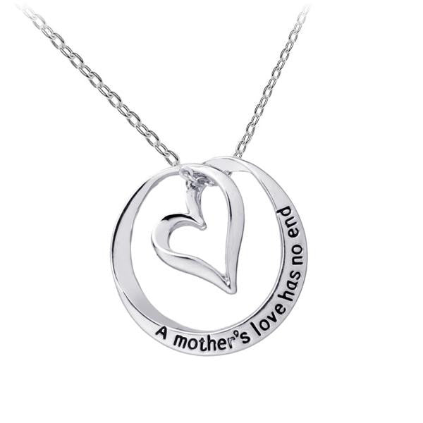 A Mother's Love Has No End Necklace - Bizzy Lizzy