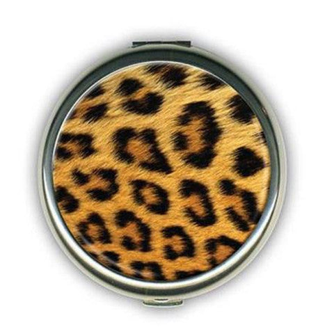Safari Print Pocket Makeup Mirror - Leopard or Zebra - Bizzy Lizzy