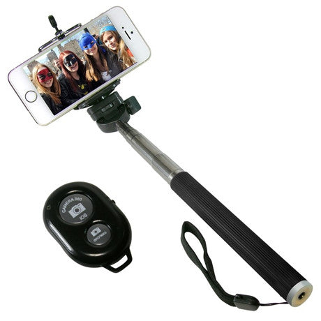 Selfie Stick With Remote Bluetooth Shutter Button - Assorted Colors - Bizzy Lizzy
