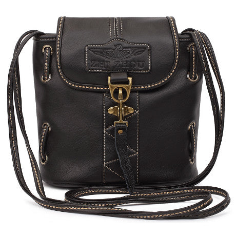 Vintage Cross-body Leather Bag - 2 Colors - Bizzy Lizzy