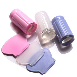 Fashion Nail Art Design Stamp & Scraper Tool - 3 Colors - Bizzy Lizzy