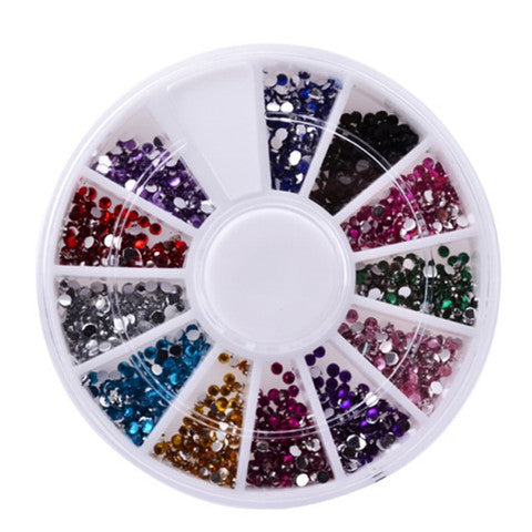 Fashion Nail Art Wheel - 12 Color - Bizzy Lizzy