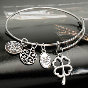 Love and Luck Enchanting Charm Bangle - Bizzy Lizzy