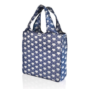 "Portable, Roll-Up Fashion Tote Bag - Patented - 15.5"" x 15.5"" x 4"" - Water Resistant - 7 Colors / Designs Available - Bizzy Lizzy"