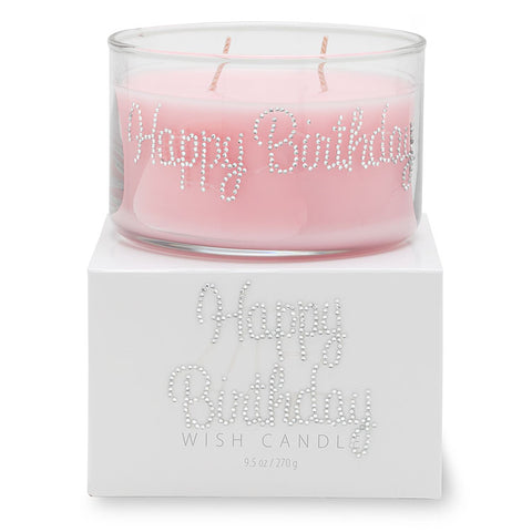 Primal Elements Hand Jeweled Wish Candle, Happy Birthday, 9.5 Ounce - Bizzy Lizzy