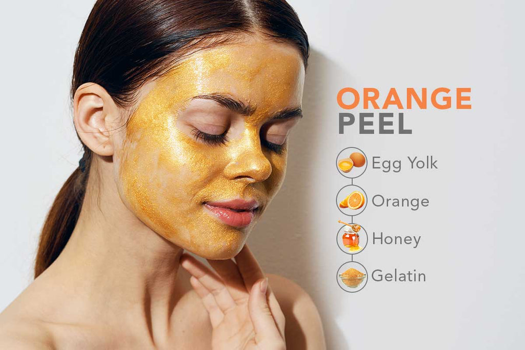 DIY Face Brightening Orange Peel
