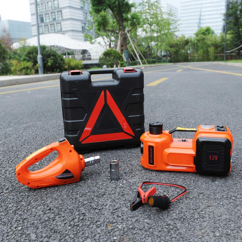 3-Function Emergency Auto Electric Hydraulic Jack