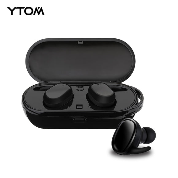 YTOM New Capsule Sport Bluetooth 5.0 Ture Wireless Headphones TWS MINI  Earphone Deep Bass Stereo Sound Headset for IOS Android