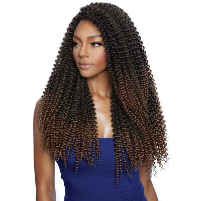 Mane Concept Afri-Naptrual Caribbean Bundle Braids - CB1807 Passion Water Wave 18""