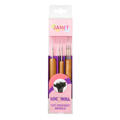Janet Collection Loc & Roll Crochet Needle 3 PCS