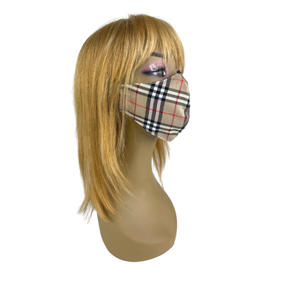 Yihang Fashion Plaid Face Mask