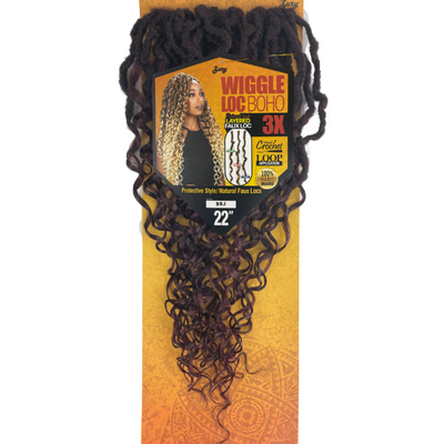 Zury Sis Synthetic Braids - 3X Wiggle Loc Boho 22""
