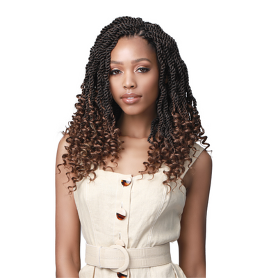Bobbi Boss Synthetic Crochet Braids - 2X Wavy Senegal Twist Curly Tips 14""