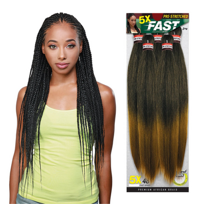Zury Sis Pre-Stretched Synthetic Braiding Hair - 5X Fast Braid 48""