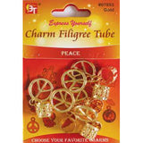 Beauty Town Charm Filigree Tube Peace #07853 Gold