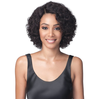 Bobbi Boss 100% Unprocessed Brazilian Virgin Remy Bundle Hair Full Lace Wig - BNGLWNC12 Natural Curl 12""