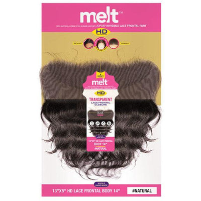 "Janet Collection Melt HD 100% Virgin Human Hair 13"" X 5"" Transparent Lace Frontal Closure - Body"