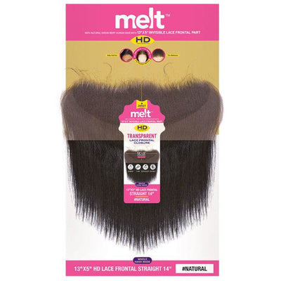 "Janet Collection Melt HD 100% Virgin Human Hair 13"" X 5"" Transparent Lace Frontal Closure - Straight"
