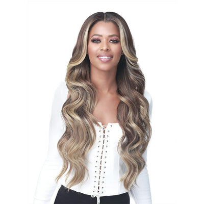 "Bobbi Boss Synthetic HD Transparent 4.5"" Deep Part Lace Front Wig - MLF378 Macaria"