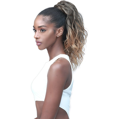 Bobbi Boss Miss Origin Tress Up Human Hair Blend Drawstring Ponytail - Loose Wave 14""
