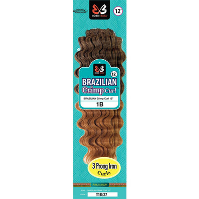 Bobbi Boss Synthetic Crochet Braids - Brazilian Crimp Curl 12""