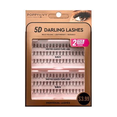Poppy and Ivy Beauty 5D Darling Individual Lashes - 2X Knotted Classic Flare Long #ELDL73