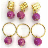 Crystal Hair Bead Accessory Tube & Ring With Bead #ASST