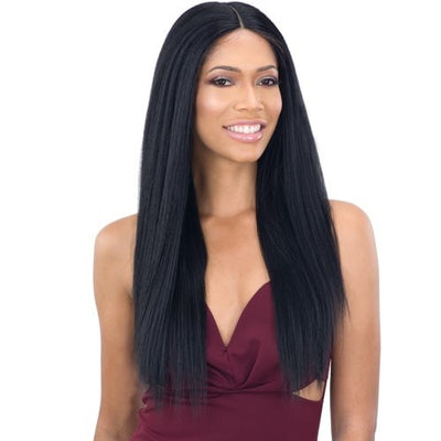 Shake-N-Go Organique Synthetic Lace Front Wig - Light Yaky Straight 24""