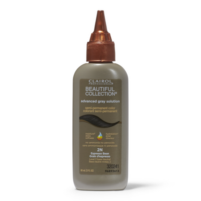 Clairol Beautiful Collection Advanced Gray Solution – Espresso Bean #2N 3.0 OZ