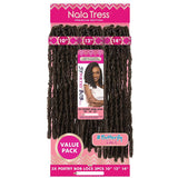 "Janet Collection Nala Tress Braids - 3X Poetry Bob Locs (10""+12""+14"")"