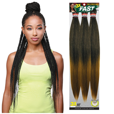 Zury Sis Pre-Stretched Synthetic Braiding Hair - 3X Fast Braid 60""