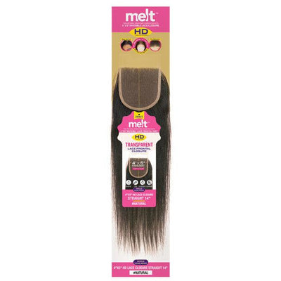 "Janet Collection Melt HD 100% Virgin Human Hair 4"" X 5"" Lace Frontal Closure - Straight"