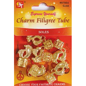 Beauty Town Charm Filigree Tube Soles #07864 Gold