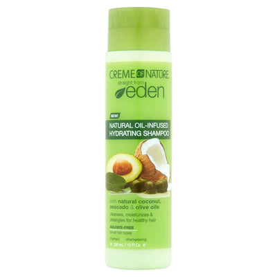 Creme Of Nature Straight From Eden Natural Oil-Infused Hydrating Shampoo 10 Oz