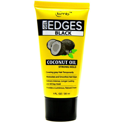BMB Gel Edges Strong Hold Coconut Oil Black  1 OZ