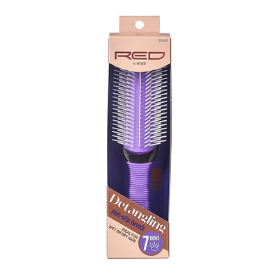 Red by Kiss Professional 7 Row Non-Slip Detangling Brush #BSH31