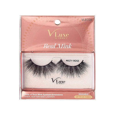 V-Luxe i-envy By Kiss High Volume 25mm Real Mink Eyelashes - VLEC09 Misty Rose