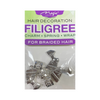 Magic Collection Filigree Hair Tube With Egyptian Head #FILICHA21 #ASST