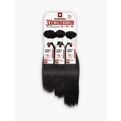 Sensationnel Bare & Natural 7A Unprocessed Multi-Length Human Hair Bundle Weave - Straight 3PCS