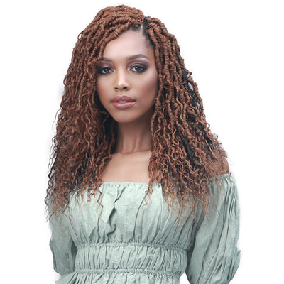 Bobbi Boss Synthetic Crochet Braids - 2X Nu Locs French Deep Boho 14""