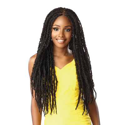 "Sensationnel Cloud 9 4"" X 4"" Hand Braided Swiss Synthetic Lace Front Wig - Butterfly Locs 30"