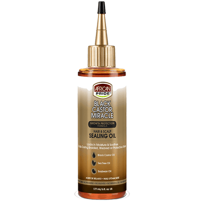 African Pride Black Castor Miracle Hair & Scalp Sealing Oil 6 OZ