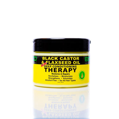 Eco Style Black Castor & Flaxseed Oil Deep Conditioning Therapy 12 OZ